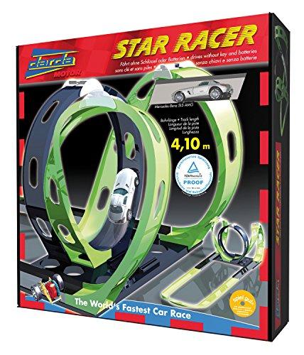 Darda 50107 Star Racer Circuit de course Avec Mercedes Benz SLS AMG Longueur de piste 410 cm
