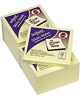 Snopake Lot de 12 blocs de notes repositionnables 100 feuilles par bloc Jaune 76 x 76mm