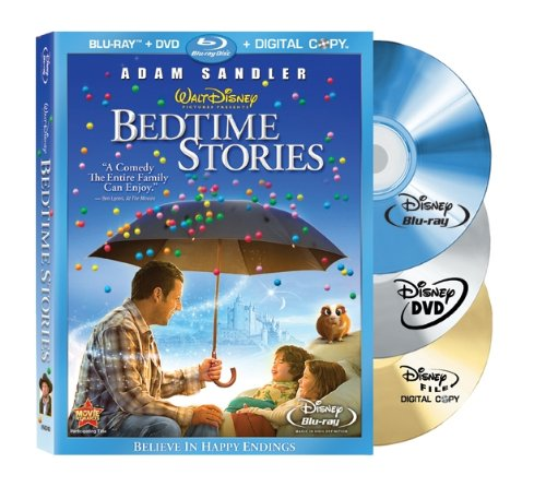 Cover art for  Bedtime Stories (Three-Disc Edition:  DVD/Digital Copy/Blu-ray Live)