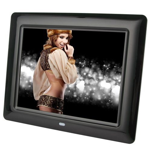 Koolertron 4:3 Widescreen 10 /7/8/12.1/14 Inch Lcd Digital Photo Frame Video Player Music Player Hd 1024*768 High Resolution Sd/Mmc/Ms - Usb Slots As Christmas Gifts (Black, 8 Inch)