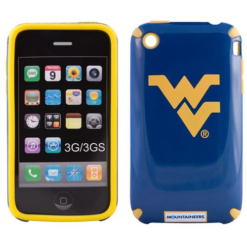 NCAA West Virginia Mountaineers Helmetz Cover for iPhone 3G S