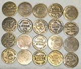 Set of 20 Reproduction Old West Brothel Tokens