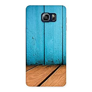 Impressive Wood Cyan Back Case Cover for Galaxy Note 5