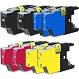 New Set of 8 LC75 High Yield Compatible Ink Cartridge Combo