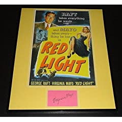 Virginia Mayo Signed Framed 16x20 Photo Poster Display Red Light - Autographed...
