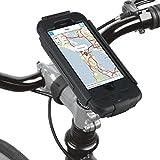 GVDV Waterproof iPhone 6/6S Bike Mount, Shockproof Case Kit with Adjustable 360°Rotating Clamp, Black