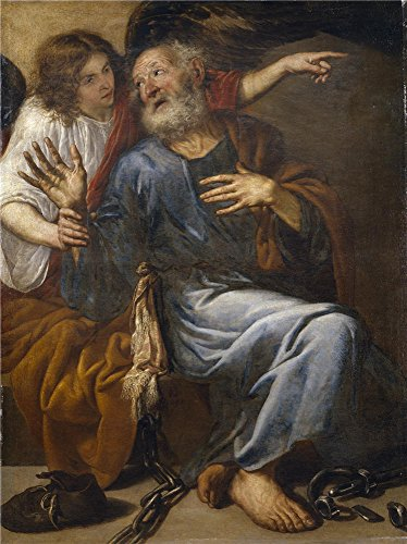 'Pereda Y Salgado Antonio De Saint Peter Freed By An Angel 1643 ' Oil Painting, 8 X 11 Inch / 20 X 27 Cm ,printed On Perfect Effect Canvas ,this Vivid Art Decorative Prints On Canvas Is Perfectly Suitalbe For Home Office Gallery Art And Home Decor And Gif