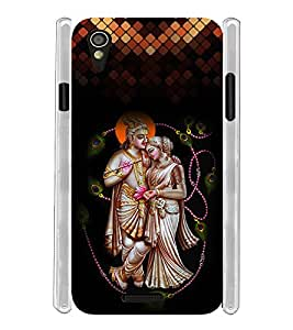 Lord Radha Krishna Green Soft Silicon Rubberized Back Case Cover for Lava Iris X1 Mini