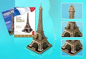Eiffel Tower Large 3D Puzzle With Book 82 Pcs