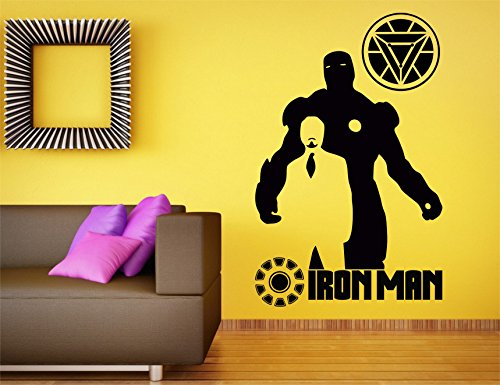 The Avengers Iron Man / Tony Stark Silhouette Wall Mural Decal / 36
