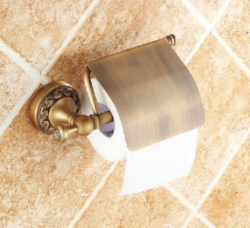 AST bagno in ottone carta igienica con coperchio, colore: bronzo anticato # ast09
