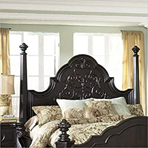 MagnussenB1771 Vellasca Antique Ebony Finish Wood Queen Poster Bed