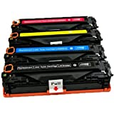Toner Clinic ® 4PK Compatible Laser Toner Cartridge Set for HP 128A CE320A Black CE321A Cyan CE323A Magenta CE322A Yellow Compatible With HP Color Laserjet CM1415fnw, Color Laserjet CP1525nw, Color Laserjet Pro CP1525nw, LaserJet Pro CM1415, LaserJet Pro CM1415fn, LaserJet Pro CM1415fnw, LaserJet Pro CP1525, LaserJet Pro CP1525n, LaserJet Pro CP1525nw