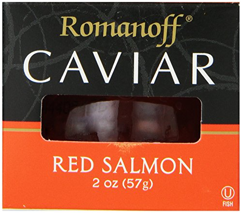 Romanoff Caviar Red Salmon, 2 Ounce Jar (Canned Fish Roe compare prices)