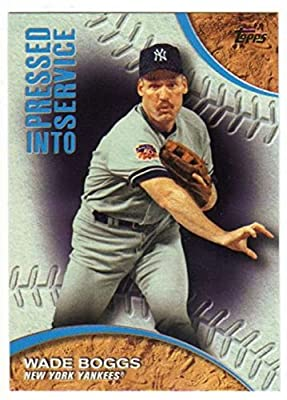 2016 Topps Series 1 Pressed Into Service #PIS-2 Wade Boggs New York Yankees