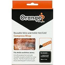 Gel Pack Premium Caviglia & Polso di Orange Physio - Un Impacco Caldo/Freddo comodo che si avvolge attorno alla tua articolazione per ridurre gonfiore, ematomi e migliorare la mobilità (1)