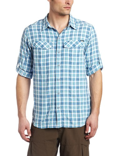 Columbia-Silver-Ridge-Plaid-LS-Shirt-XXL