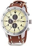 Mike Ellis New York Herren-Armbanduhr XL Chronograph Quarz Kunstleder 17986/3