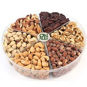 Oh! Nuts Freshly Roasted Nut Gift Tray 6-section 15 Oz. Gift Tray