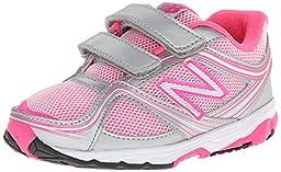 New Balance KG636 Hook and Loop Running Shoe (Infant/Toddler), Pink/Grey, 2 M US Infant