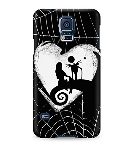Nightmare Before Christmas Jack And Sally Love Hard Plastic Snap On Back Case Cover For Samsung Galaxy S5 Custodia