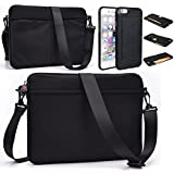 Black Scoop Series Tablet Carrying Bag Sleeve With Shoulder Strap For Apple I Pad Air 2 (2014) I Pad Air (2013...