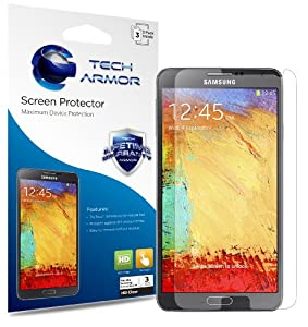 Tech Armor Samsung Galaxy Note 3 Smartphone Premium High Definition (HD) Clear Screen Protector with Lifetime Replacement Warranty [3-PACK] - Retail Packaging