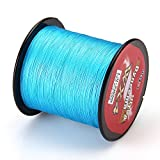 Piscifun 547yd/500m 10lb 12lb 18lb 27lb 49lb 69lb 4 Strands Floating Braided Fishing Line (Blue, 18LB)