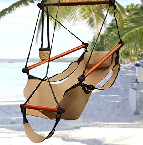 Hammock-This is the hammock chair-patio furniture-Color Tan-Durable long lasting weather resistant construction-Swing holds up to 250 lbs-Perfect for indoor or outdoor use-100% Thrilled Customer Guarantee!