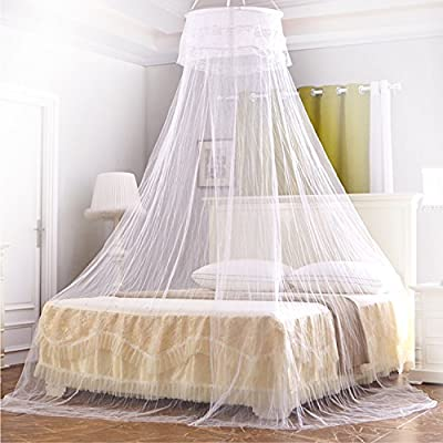 MTURE Mosquito Nets Mosquito Net Bed Canopy 2 Meter Full Coverage Protection for Home Or Holidays. Fits up to Kingsize bed, Non Skin Irritation. Mosquito Nets 4 U Bed Canopy - Insect Protection