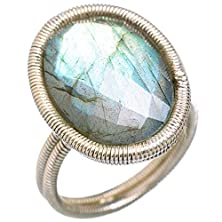buy Ana Silver Co Labradorite 925 Sterling Silver Ring Size 10 (Unique Handcrafted Artisan Jewelry) Ring715893