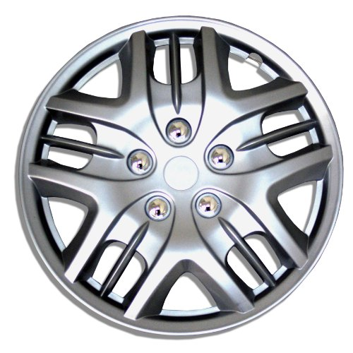 TuningPros WSC-025S15 Hubcaps Wheel Skin Cover 15-Inches Silver Set of 4 (Hubcap Hyundai Elantra compare prices)