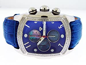 New Aqua Master Bubble Loop 1.25ct Diamond Watch Blue Face & Band