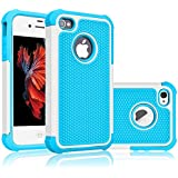 iPhone 5S Case, Tekcoo(TM) [Tmajor Series] [Baby Blue] iPhone 5 5S Case Shock Absorbing Hybrid Best Impact Defender Rugged Slim Cover Skin Shell w/ Hard Plastic Outer & Rubber Silicone Inner