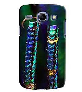Blue Throat Blue Green Pattern Hard Plastic Printed Back Cover/Case For Samsung Galaxy Core
