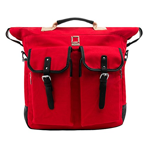 Lencca discount duty free Limited Edition Lencca Phlox 2 in 1 Laptop Backpack and Messenger Bag (Red)