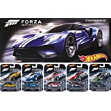 Hot Wheels 2016 FORZA Motorsport Retro Entertainment Series Box Premium Set - Lamborghini Gallardo / '17 Ford GT / Alfa Romeo Sprint GTA / Ford Falcon / Camaro ZL1 Real Riders