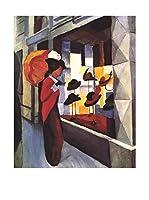 Especial Arte Lienzo Hutladen - Macke August Multicolor