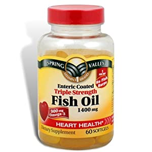 Spring valley 1400 mg triple strength fish oil supplements for Spring valley fish oil review