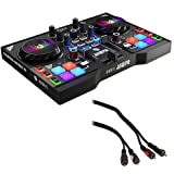 Hercules DJControl Instinct P8 Compact DJ Controller with 2 RCA Male to 2 RCA Male Audio Cable (6')