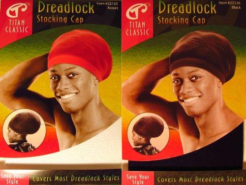 Titan Classic Dreadlock Stocking Cap - Black & White (Dreadlock Stocking Cap compare prices)