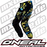 0190KS-522 - Oneal Element Kids 2011 Switchblade Motocross Pants 22 (5/6) Yellow/Cyan