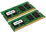 Crucial 2GB (2x 1GB) DDR3 204 Pin PC3-10600 CL9 SODIMM Memory Kit