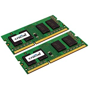 Crucial 8GB Kit (4GBx2), 204-pin SODIMM, DDR3 PC3-10600 Memory Module (CT2KIT51264BC1339)