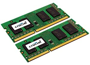Crucial 4 GB kit (2 GB x 2) DDR3 1066 MT/s (PC3-8500) CL7 SODIMM 204-Pin for Mac (CT2C2G3S1067M)