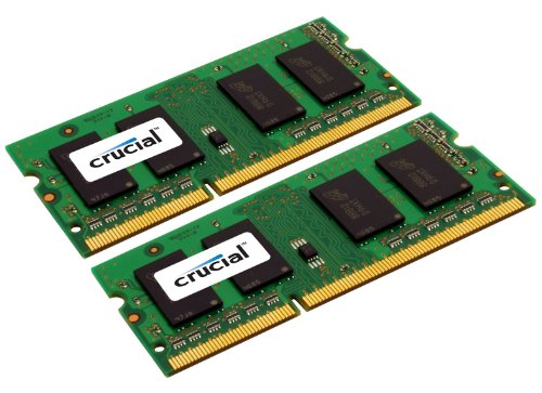 Crucial 16GB Kit (8GBx2) DDR3/DDR3L 1600 MHz (PC3-12800) CL11 SODIMM 204-Pin 1.35V/1.5V Memory for Mac CT2C8G3S160BM