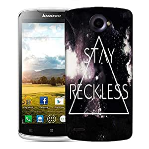 Snoogg STAY RECKLESS Designer Protective Back Case Cover For Lenovo S920