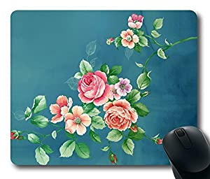 "1 X Flower Painting Custom Printed Rectangle Mouse Pad/Oblong Gaming Mousepad in 220mm*180mm*3mm (9""*7"") -921018"