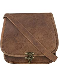 """Goatter Genuine Leather Dark Brown Sling Bag For Girls And Women H8""""*L9""""*W*4 (Brown)"""