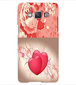 ColourCraft Heart and Flower Design Back Case Cover for SAMSUNG GALAXY E5